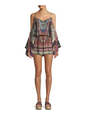 Camilla Tiny Dancer Drop-Shoulder Playsuit
