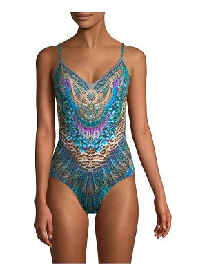 Camilla wired v-neck swimsuit