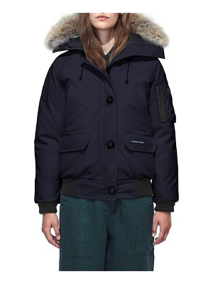 Canada Goose chilliwack hooded down bomber jacket with genuine coyote fur trim
