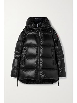 Canada Goose cypress hooded quilted recycled shell down jacket