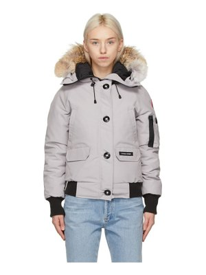 Canada Goose grey down chilliwack bomber jacket