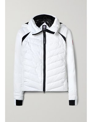 Canada Goose hybridge base hooded quilted shell down jacket