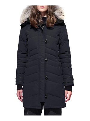 Canada Goose lorette fusion fit hooded down parka with genuine coyote fur trim