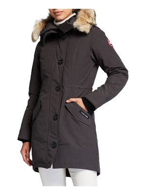 Canada Goose Rossclair Fur-Trim Hooded Down Parka