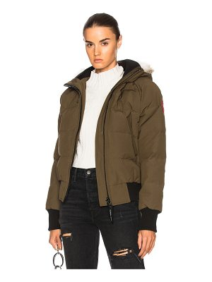 Canada Goose Savona Bomber With Coyote Fur