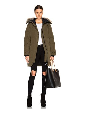 Canada Goose shelburne parka with coyote fur