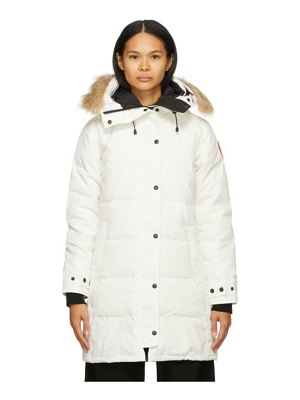 Canada Goose white down shelburne parka