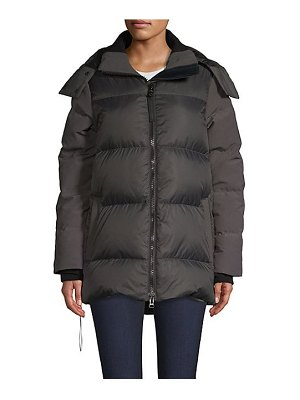 Canada Goose white horse quilted parka