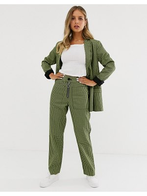 Capulet dylan double breasted check blazer-green