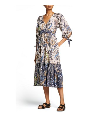 Cara Cara Round Hill Embroidered Voile Dress