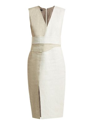CARL KAPP Ashton V-neck linen dress