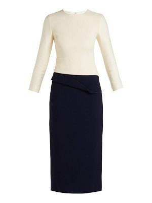 CARL KAPP dunaway wool crepe pencil dress