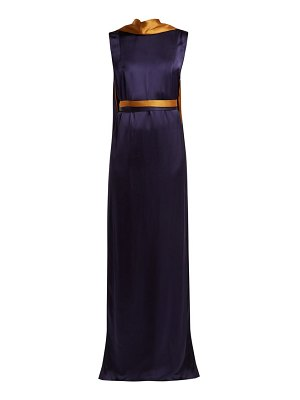 CARL KAPP electra draped satin gown