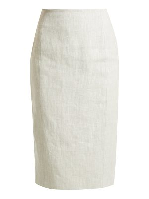 CARL KAPP Kiara high-rise linen skirt