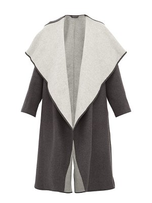 CARL KAPP lapetus double faced wool blend coat