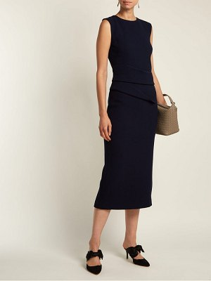 CARL KAPP Luna wool crepe dress