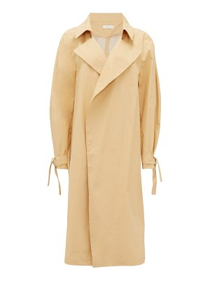 CARL KAPP montagne double-breasted cotton trench coat