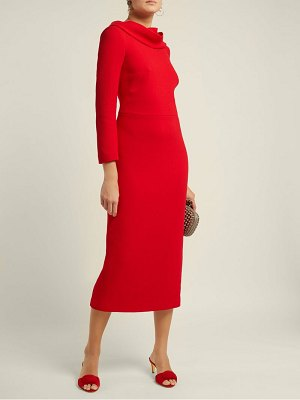 CARL KAPP noah cowl neck wool dress