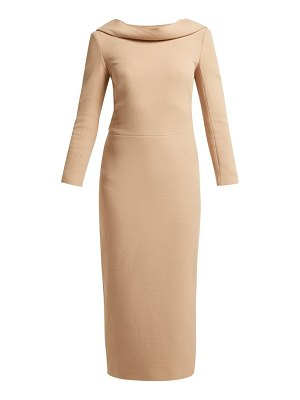 CARL KAPP noah wool crepe dress
