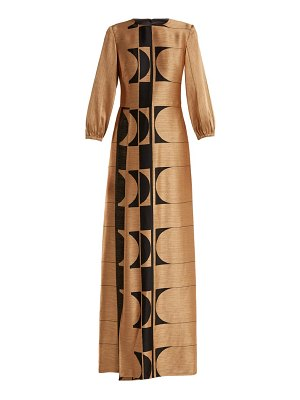 CARL KAPP osiris abstract jacquard gown