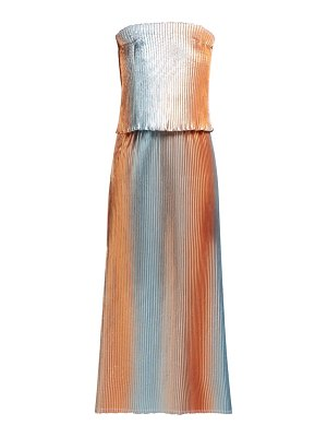 CARL KAPP prism pleated lamé gown