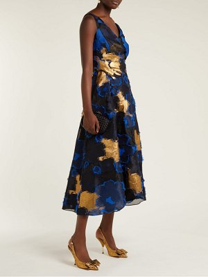 CARL KAPP rampling floral fil coupe dress