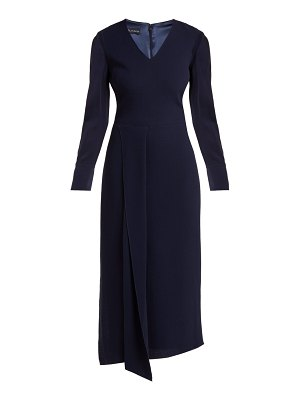 CARL KAPP shrimpton wool crepe dress