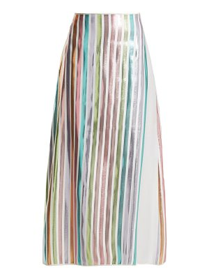 CARL KAPP Spring metallic-striped skirt