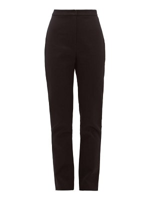 CARL KAPP tailored cotton-sateen trousers