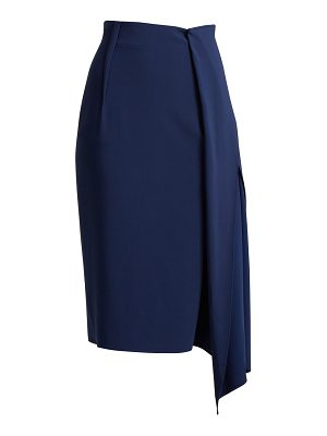 CARL KAPP Tawaret draped pencil skirt