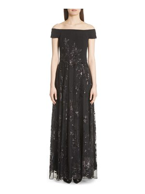 Carmen Marc Valvo Couture carmen marc valvo off the shoulder gown
