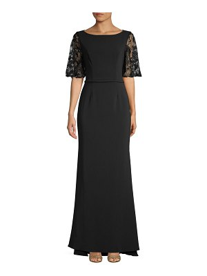 Carmen Marc Valvo Infusion Embellished Lace Gown