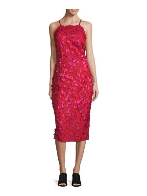 Carmen Marc Valvo Infusion Embroidered Floral Dress