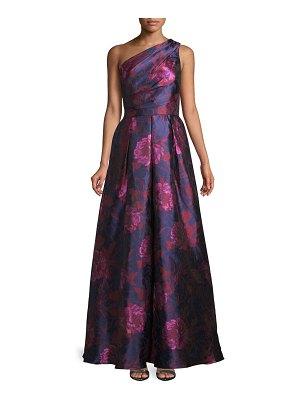 Carmen Marc Valvo Infusion Floral One-Shoulder Ball Gown