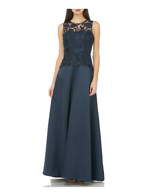Carmen Marc Valvo Infusion lace bodice evening dress