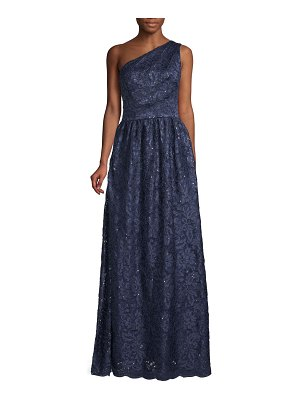 Carmen Marc Valvo Infusion One-Shoulder Sequin Gown
