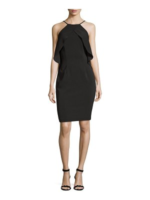 Carmen Marc Valvo Infusion Ruffle Cocktail Dress