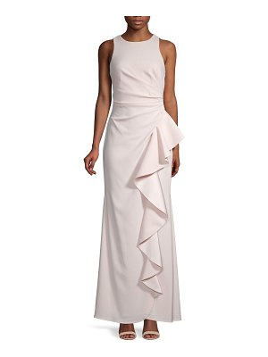 Carmen Marc Valvo Infusion Ruffle Front Gown