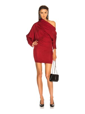 Carmen March Asymmetrical Shoulder Mini Dress