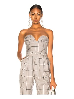 Carmen March Checked Bustier Top