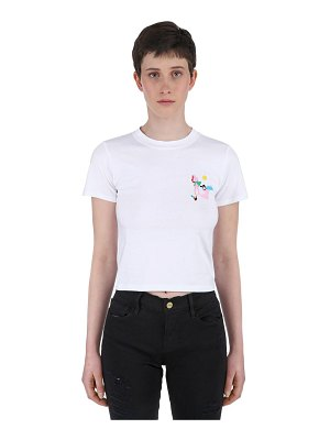 Carne Bollente Camera obscura cropped cotton t-shirt