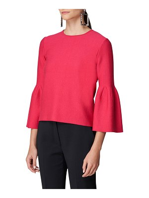 Carolina Herrera Bell-Sleeve Knit Top