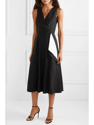 Carolina Herrera draped crepe midi dress