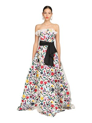 Carolina Herrera Embroidered silk gauze gown