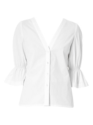Carolina Herrera flared sleeve button-down shirt