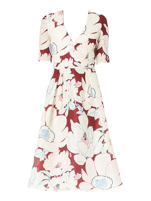 Carolina Herrera floral a-line silk dress