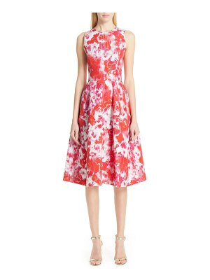 Carolina Herrera floral midi cocktail dress