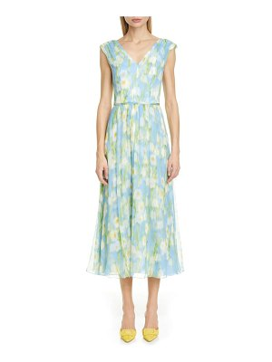 Carolina Herrera floral print v-neck silk midi dress