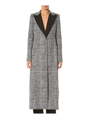 Carolina Herrera glen plaid wool & silk coat
