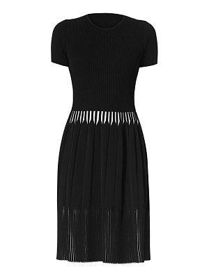 Carolina Herrera icon rib-knit short-sleeve dress